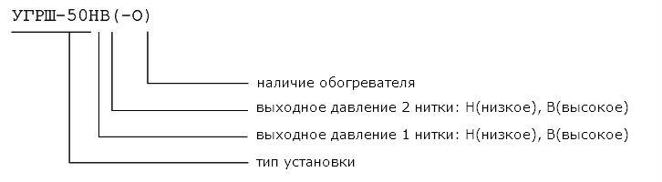 Установки газорегуляторные шкафные УГРШ-50НВ(-О), УГРШ-50НН(-О), УГРШ-50ВВ(-О)