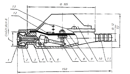 Регулятор низкого давления с предохранительно-запорным клапаном GasTeh 127-BV