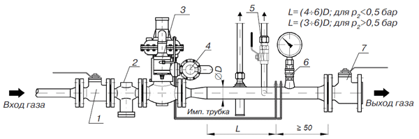 Регулятор низкого давления без и с предохранительно-запорным клапаном GasTeh 137, 137-BV