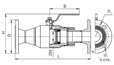 Кран шаровый изолирующий стальной полнопроходной КШИ