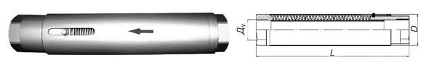 Компенсатор сильфонный осевой резьбовой (КСО-Р)