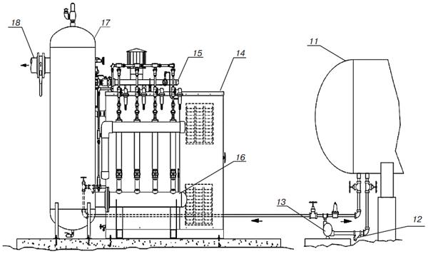 Схема смесительной установки