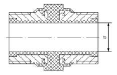 Вставка изолирующая UDI-GAS для внутридомовых газопроводов