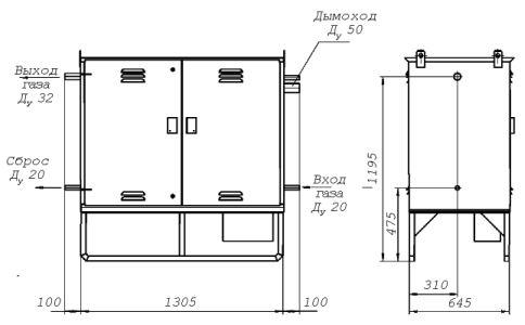 Газорегуляторный пункт шкафной ГРПШ-1-2Н