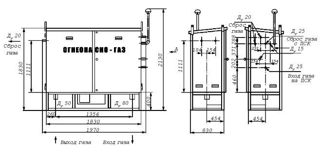 Установка газорегуляторная шкафная УГРШ(К)-50Н-2(-О)