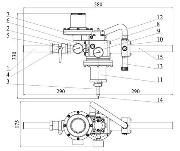 Шкафная газорегуляторная домовая установка ШБДГ-10Г
