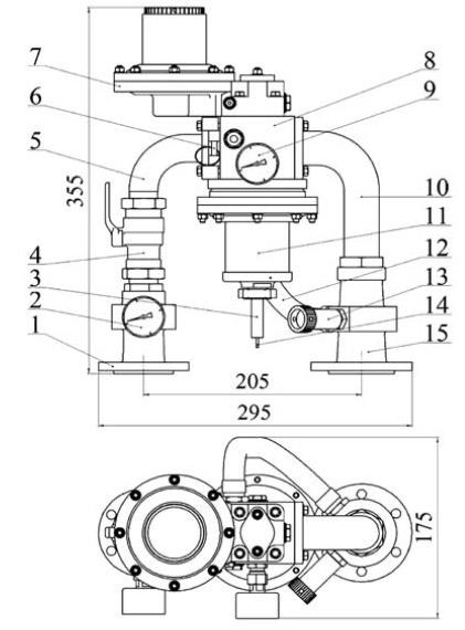 Шкафная газорегуляторная домовая установка ШБДГ-10В