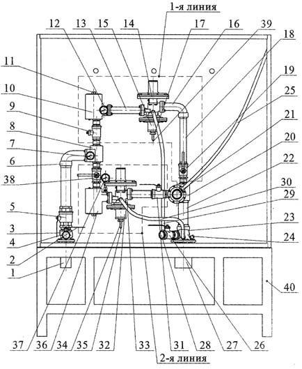 Чертеж установки ШБДГ-100-2К