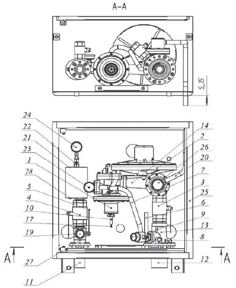 Чертеж установки ШБДГ-800