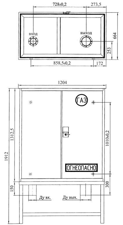 Габаритный чертеж установки ШБДГ-1500-2К
