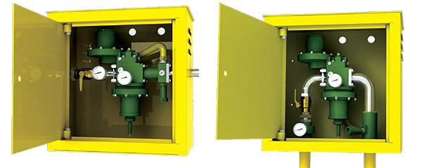 Газорегуляторные шкафные установки ШБДГ-10Г, ШБДГ-10В