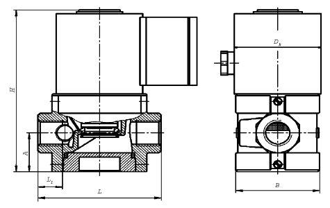 Клапаны электромагнитные двухпозиционные муфтовые ВН1/2Н-4П, ВН3/4Н-4П, ВН1Н-4П