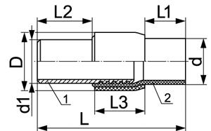 Муфта сливная МС-50-УХЛ ТУ 3689-016-00217633-97