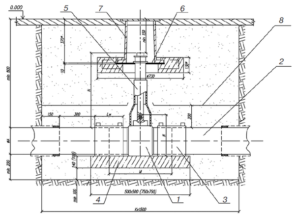 установка крана на подземном газопроводе