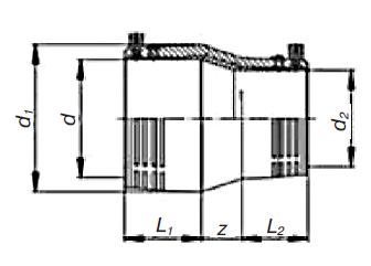 Переход э. с. ПЭ/латунь SDR 11 PE 100 PN 10 Elgef Plus