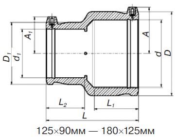Переход э. с. (редукционная муфта) 491107** SDR 11 PE 100 PN 10* без спирали