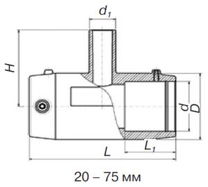 Редукционный тройник э. с. SDR 11 PE 100 PN 10*