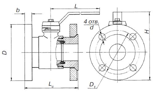 Кран шаровой ГШК 32С