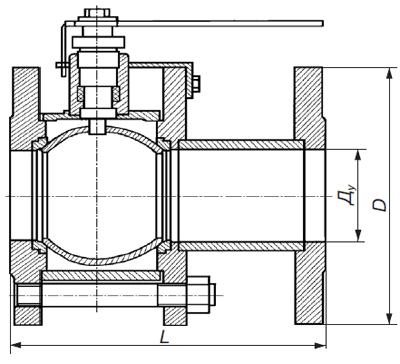 Кран газовый фланцевый 11с67п-М