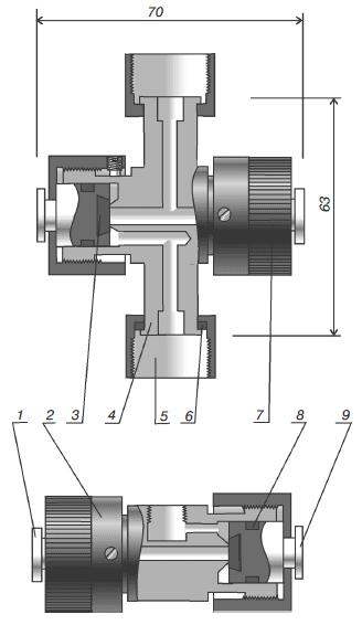Клапан трехходовой для присоединения манометров