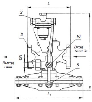 Регулятор давления РДБК1-100В