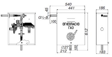 Газорегуляторные пункты шкафные коммунально-бытового назначения ГРПШ-6, ГРПШ-10, ГРПШ-10МС