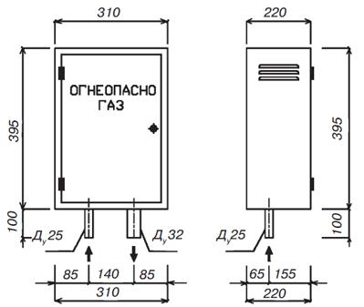 Газорегуляторный пункт шкафной ГРПШ-FRG/25 с одной линией редуцирования
